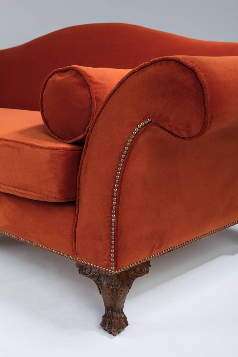 French Bespoke 18th Century Style Oak Sofa For Sale
