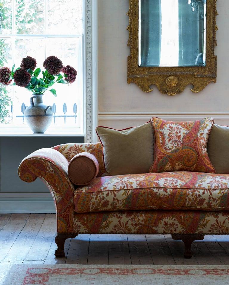 Contemporary Bespoke 18th Century Style Oak Sofa For Sale