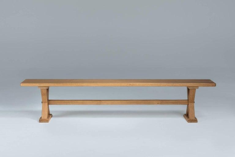 European Bespoke French Oak X-Frame Table For Sale