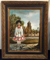 """""""Sunday Dress"""" Mexican Painting by Agapito Lebios"""