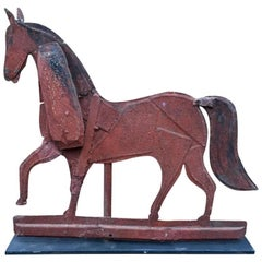 19th Century American Painted Horse Sheet Iron Weathervane