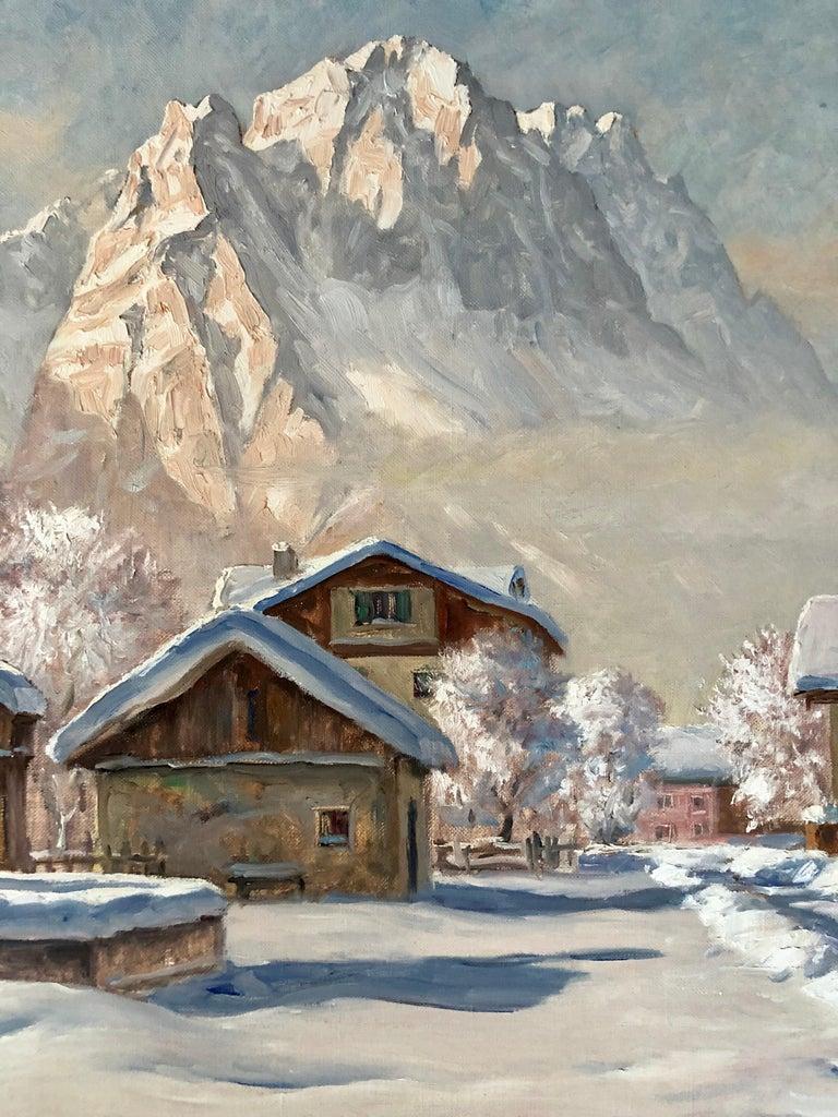 """Modern """"Winter in Garmisch"""" by Erwin Kettemann For Sale"""