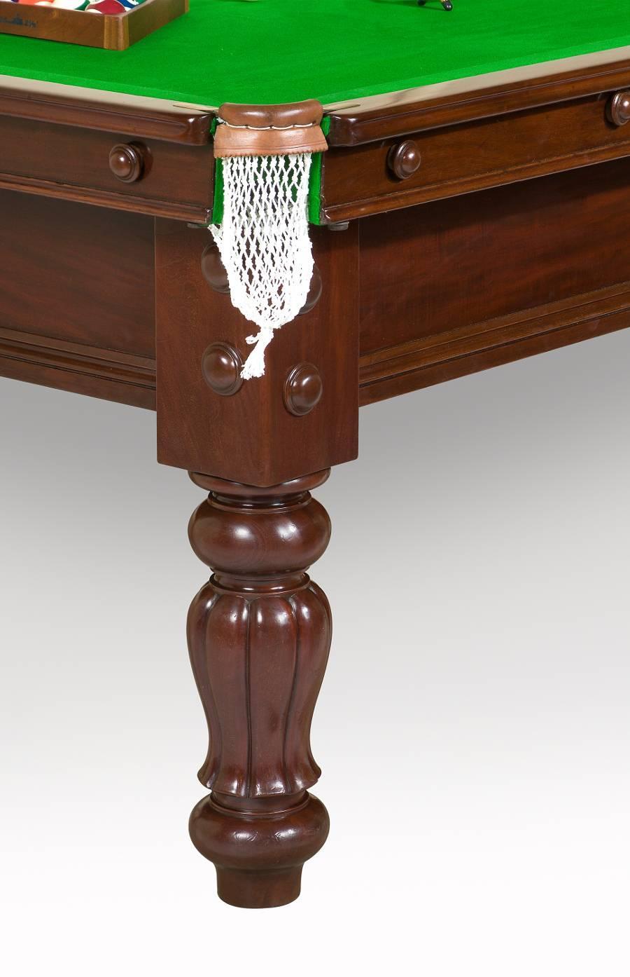 A Mahogany Three Quarter 9 Ft X 4.5 Ft English Billiard Table By Burroughs  U0026 Watts