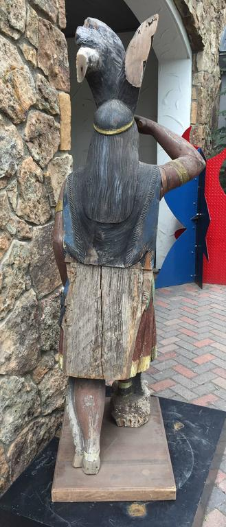 Great cigar store indian chief early american attributed