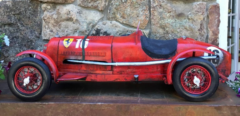 "Large Painted Sculpture ""1933 Scuderia Ferrari Monza"" Alfa Romeo Paul Jacobsen 2"