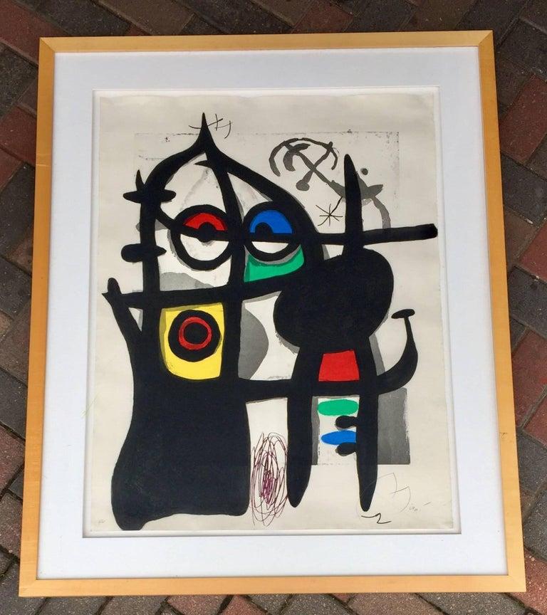 """""""La Captive"""" HC Color Etching Aquatint by Joan Miró 2"""