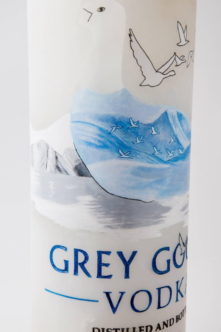 """Modern """"Grey Goose"""" Stone and Mixed Media Sculpture by Robin Antar For Sale"""