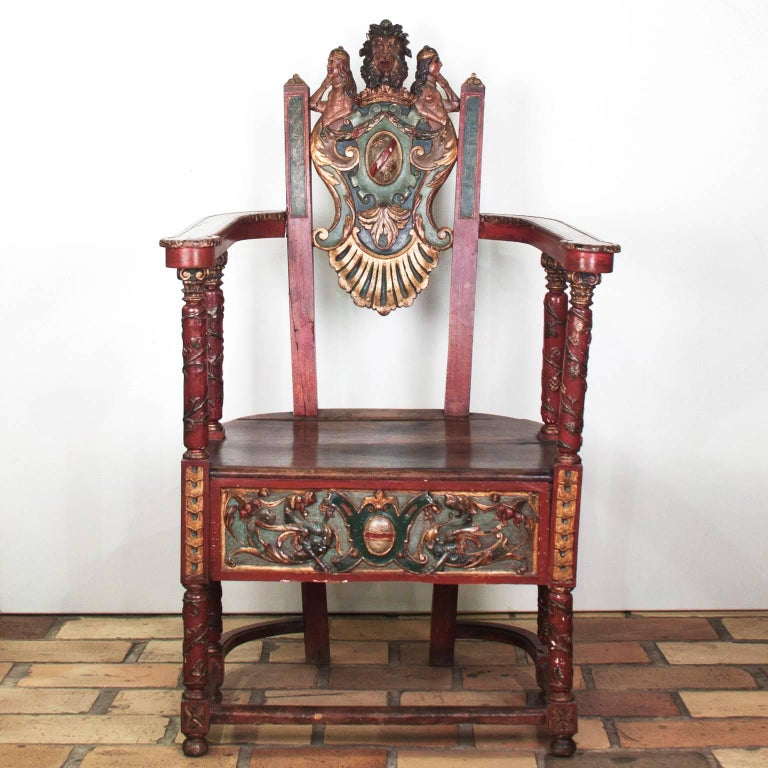17th Century French Wooden Chair, Renaissance 2