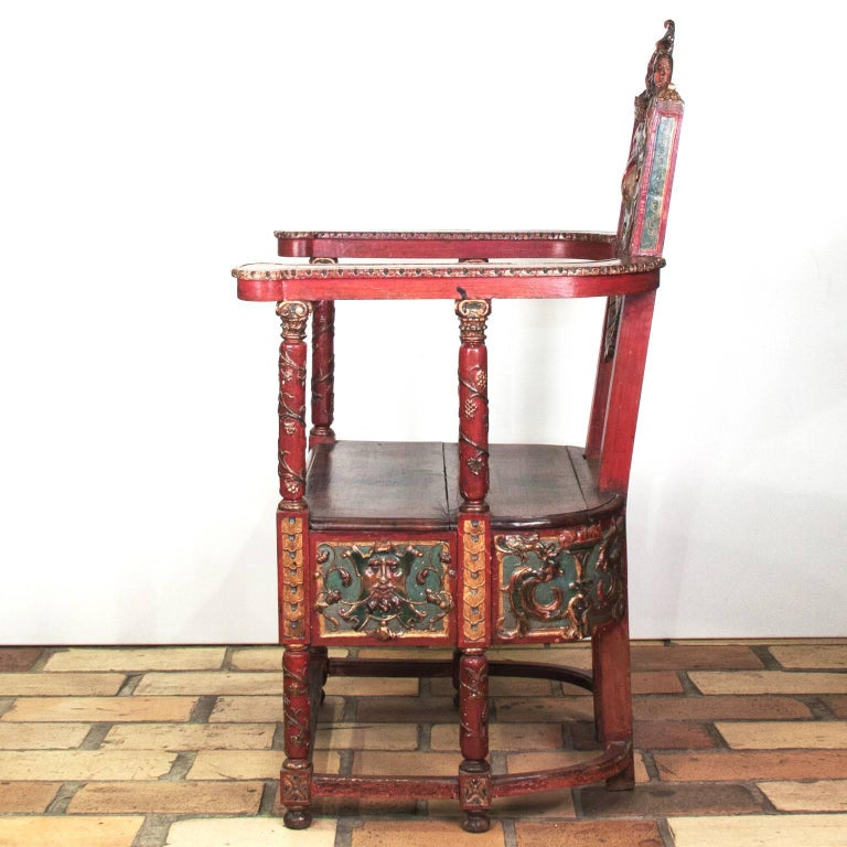 17th Century French Wooden Chair, Renaissance 3