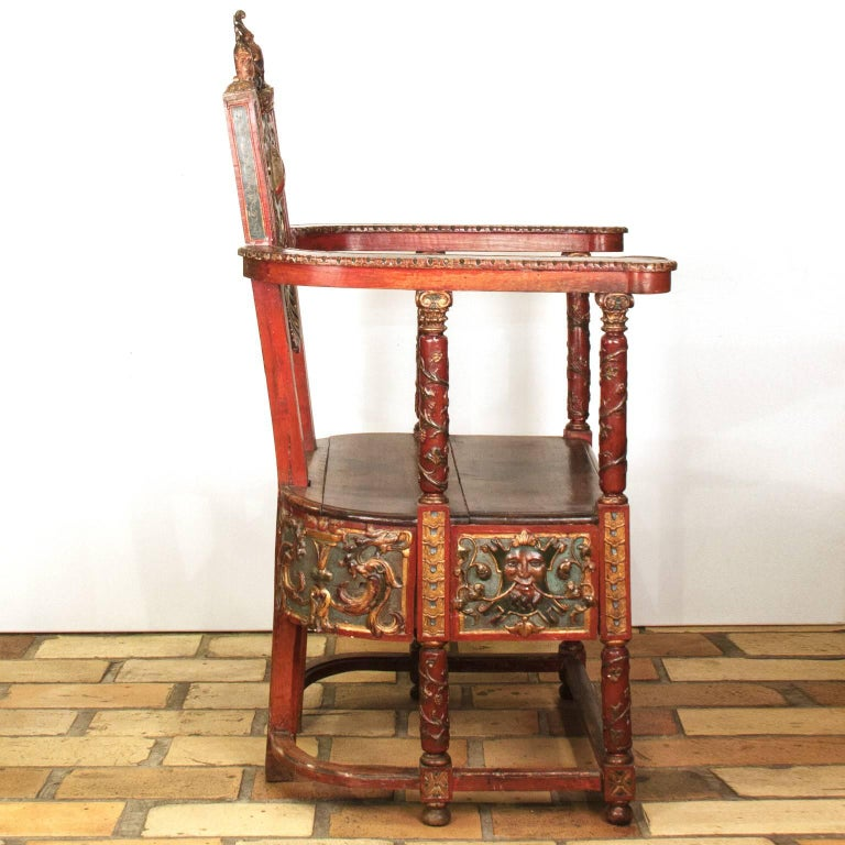 17th Century French Wooden Chair, Renaissance 5