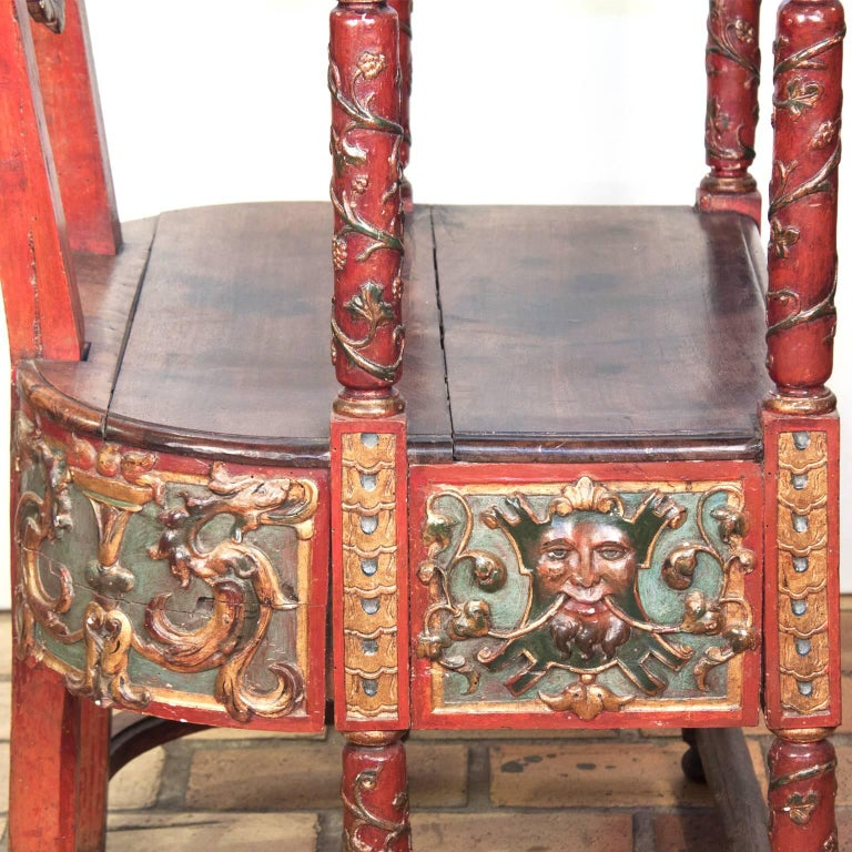 17th Century French Wooden Chair, Renaissance 6