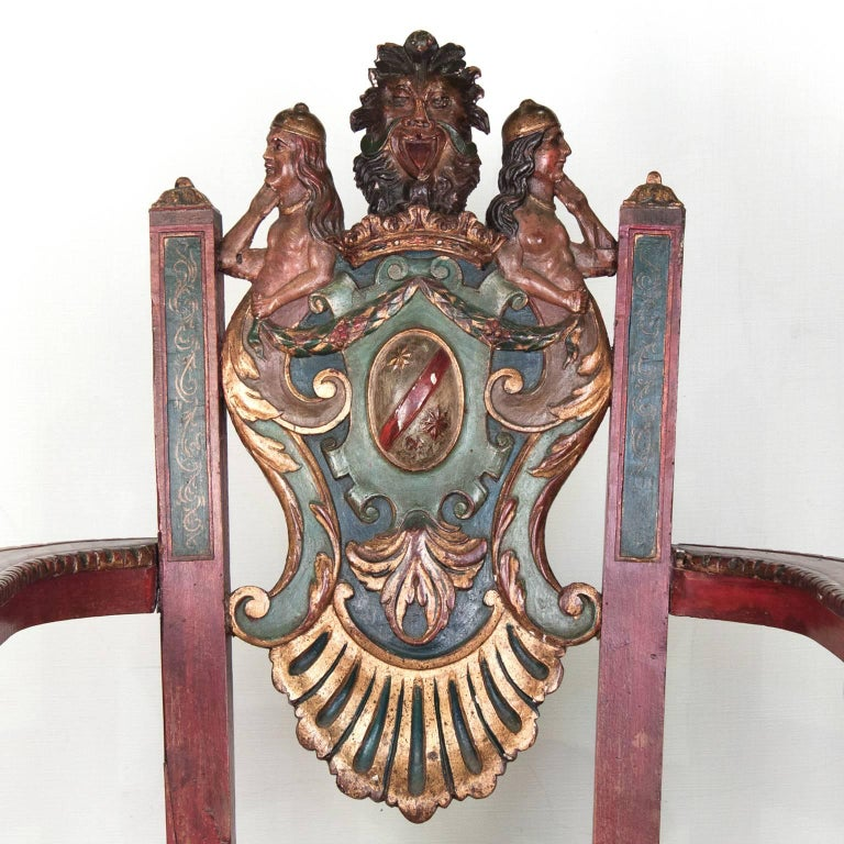 17th Century French Wooden Chair, Renaissance 8