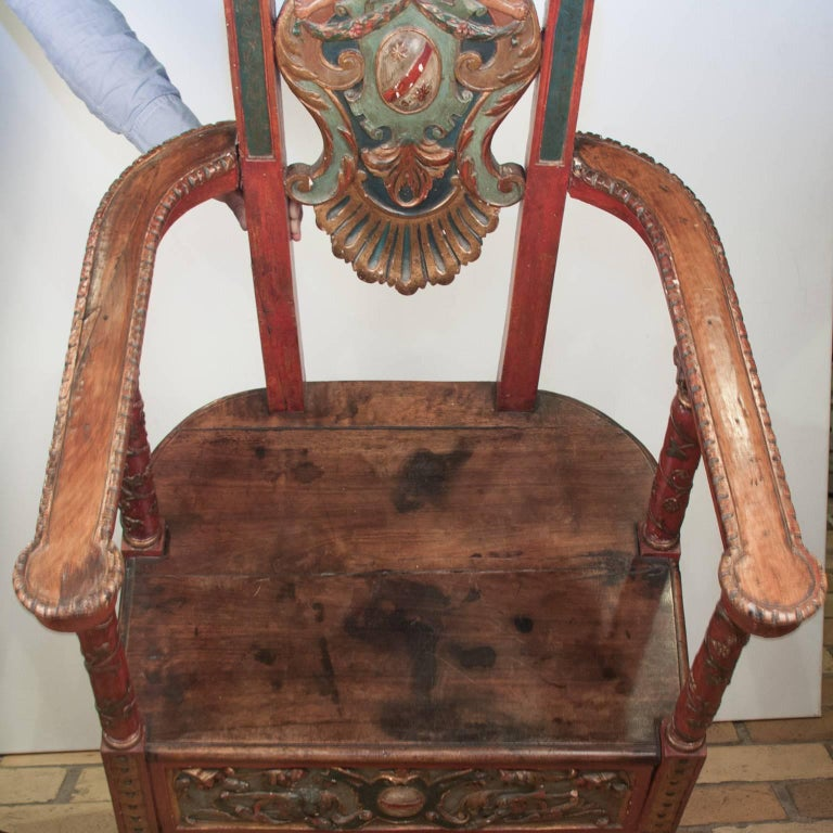 17th Century French Wooden Chair, Renaissance 10