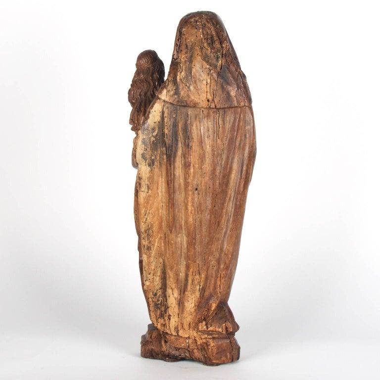 Gothic Walnut Wooden Anna Selbdritt Group, circa 1480, Brabant, Malines For Sale
