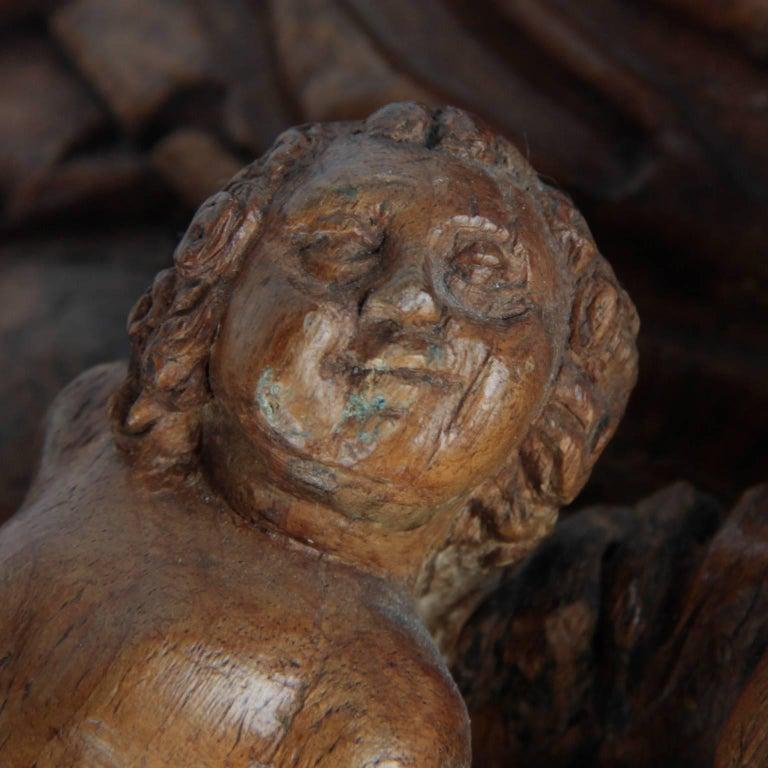 Walnut Wooden Anna Selbdritt Group, circa 1480, Brabant, Malines In Good Condition For Sale In Esbeek, NL