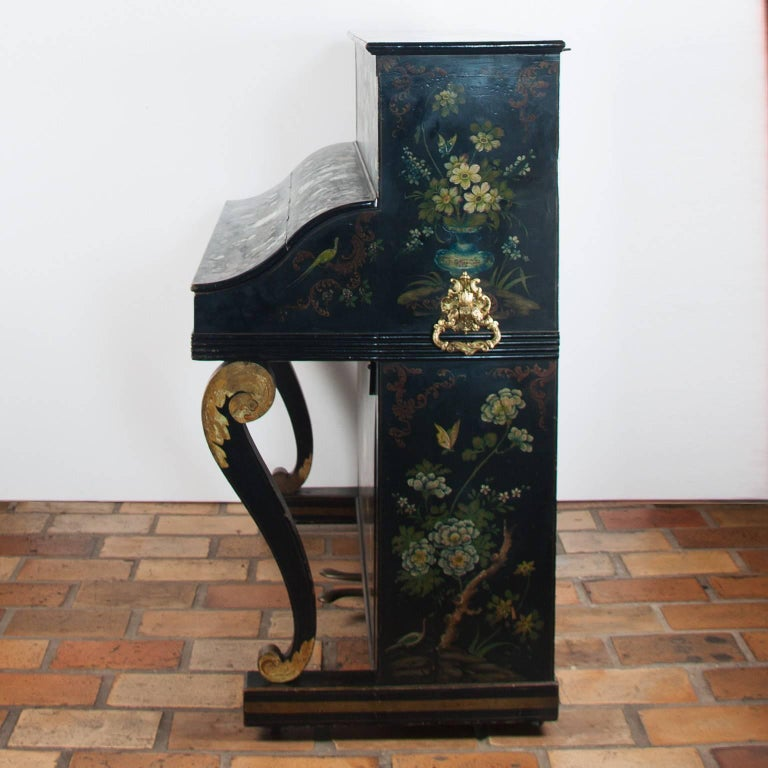 19th century piano with original paint layer.