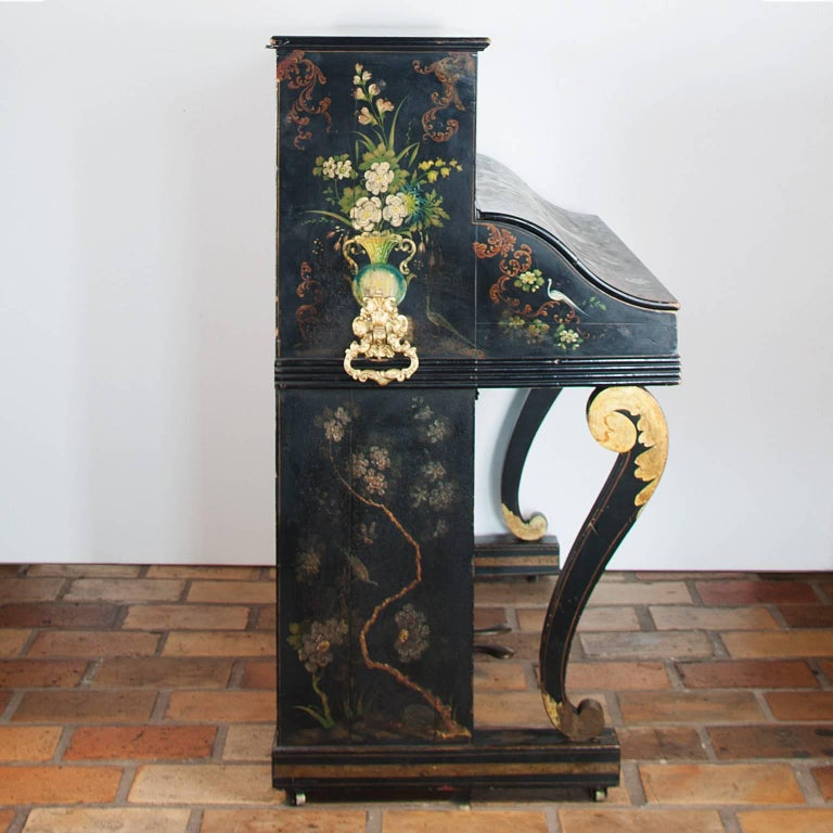 Wood 19th Century Painted Piano For Sale