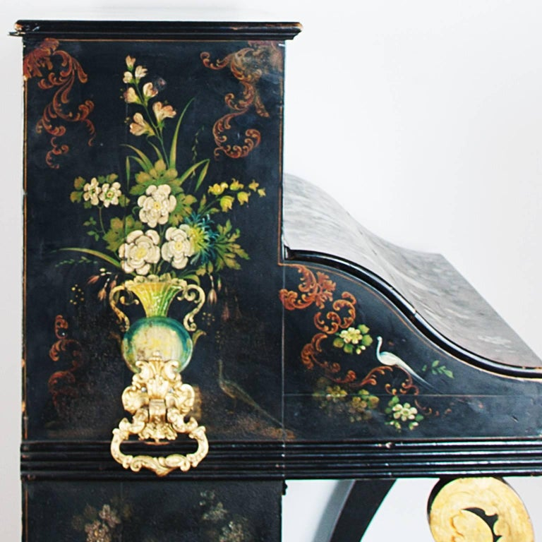 19th Century Painted Piano For Sale 4