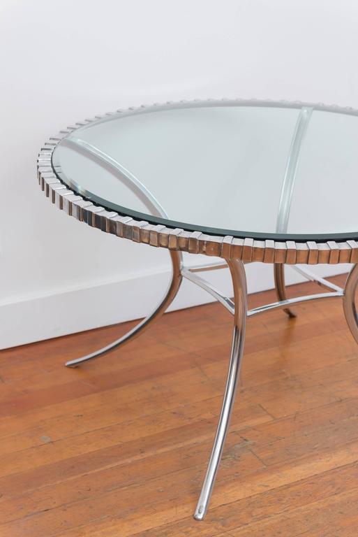 Thinline Polished Aluminum Klismos Table 2