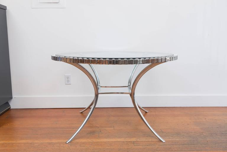 Thinline Polished Aluminum Klismos Table 3