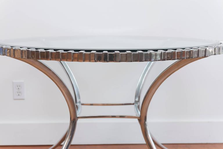 Thinline Polished Aluminum Klismos Table 4