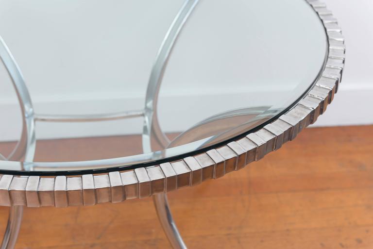 Thinline Polished Aluminum Klismos Table 5