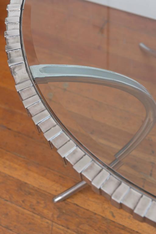 Thinline Polished Aluminum Klismos Table 6