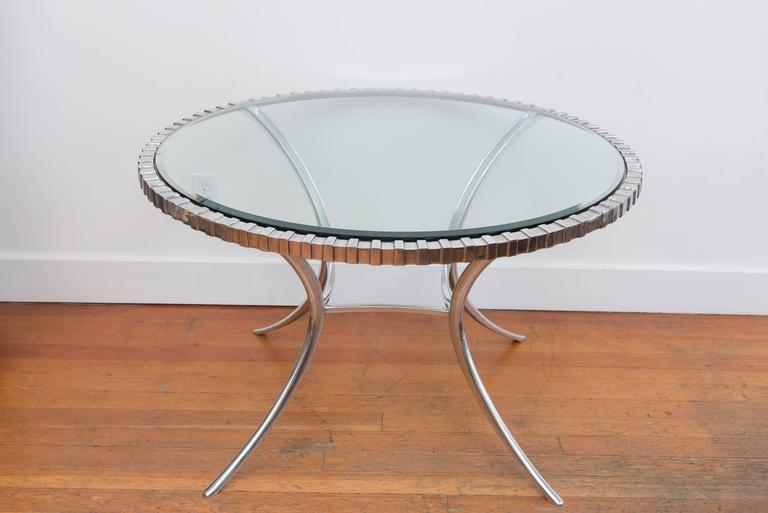 Thinline Polished Aluminum Klismos Table 7