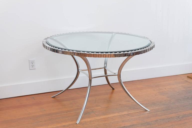Thinline Polished Aluminum Klismos Table 8
