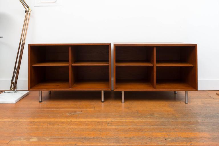 Pair of George Nelson Teak Shelves for Herman Miller 2
