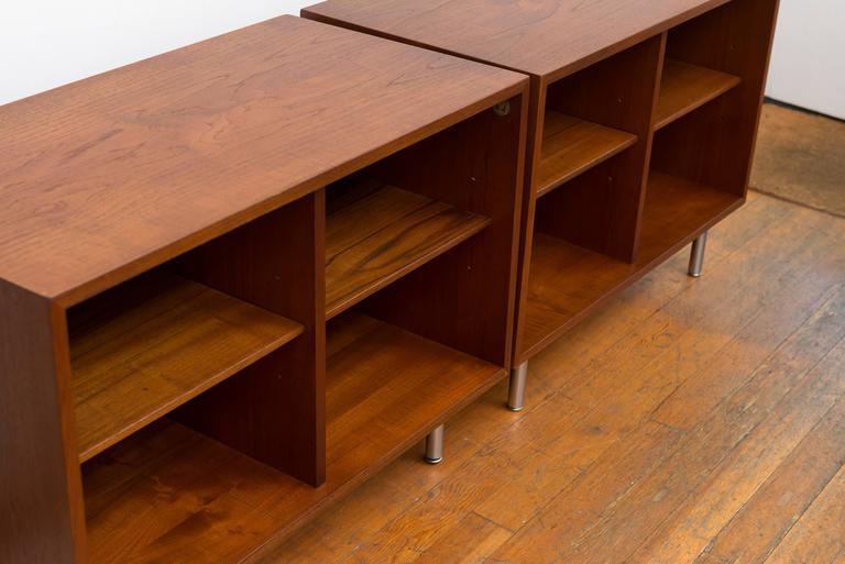 Pair of George Nelson Teak Shelves for Herman Miller 3
