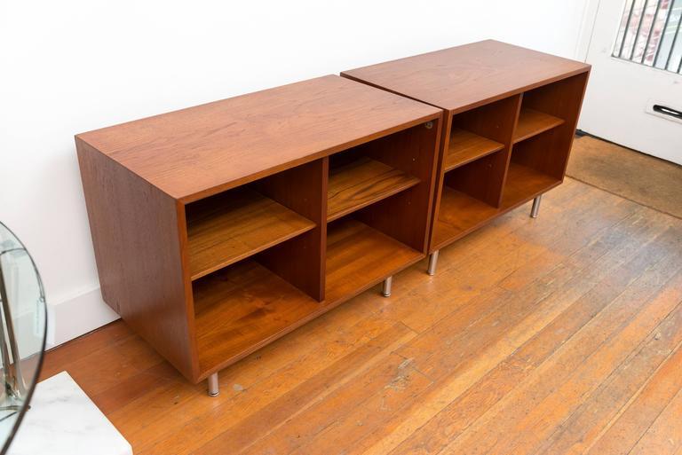 Pair of George Nelson Teak Shelves for Herman Miller 6