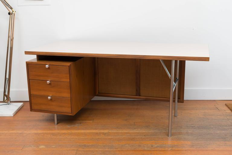 George Nelson Walnut Desk 2