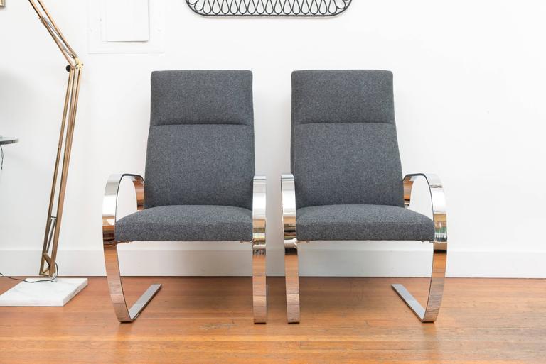 Chrome Cantilever Armchairs 2