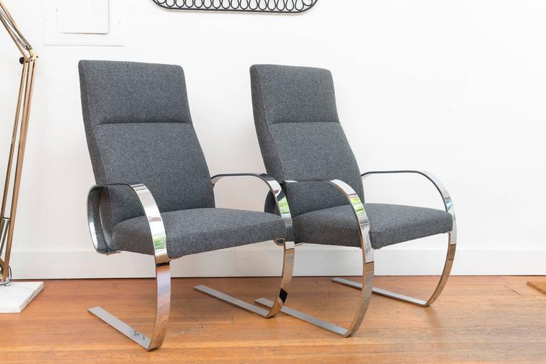 Chrome Cantilever Armchairs 3