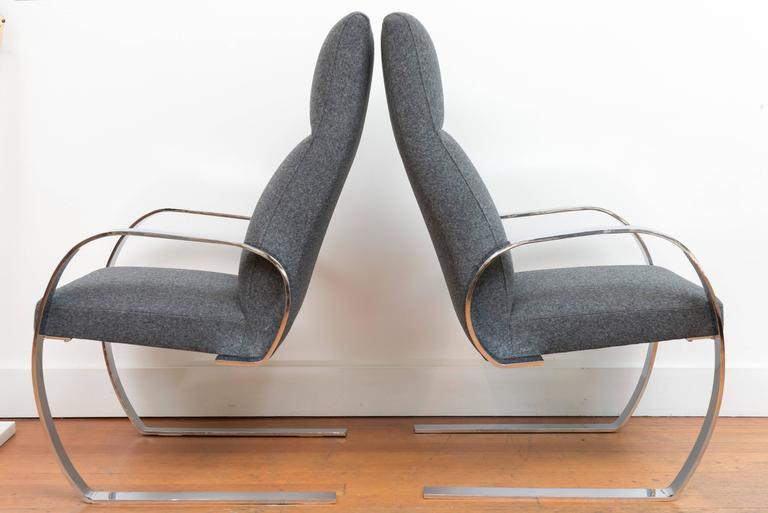 Chrome Cantilever Armchairs 4