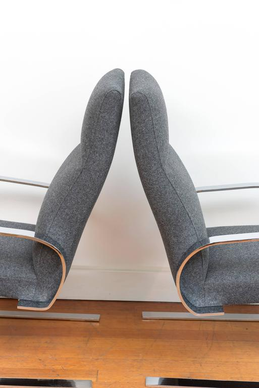 Chrome Cantilever Armchairs 5