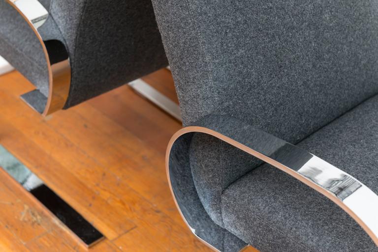 Chrome Cantilever Armchairs 6
