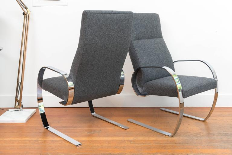 Chrome Cantilever Armchairs 7