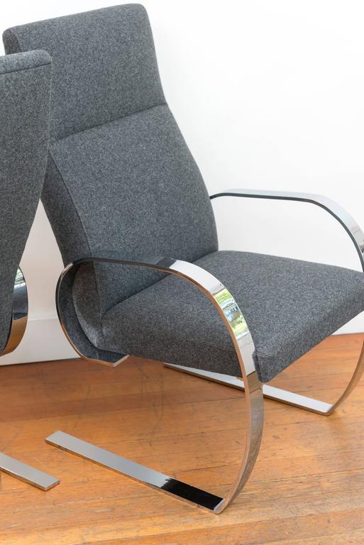 Chrome Cantilever Armchairs 8