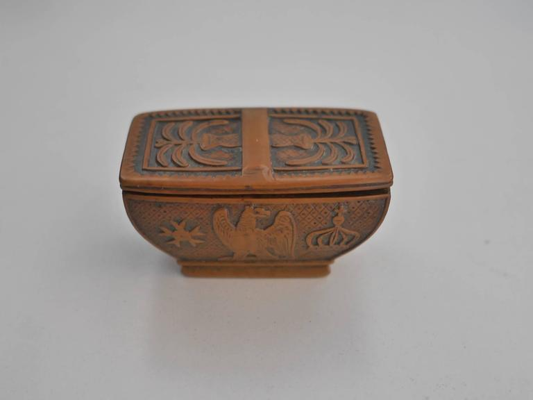 French 19th Century Napoleon's Coffin Snuffbox For Sale