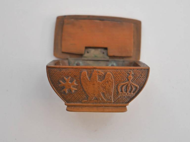 Wood 19th Century Napoleon's Coffin Snuffbox For Sale