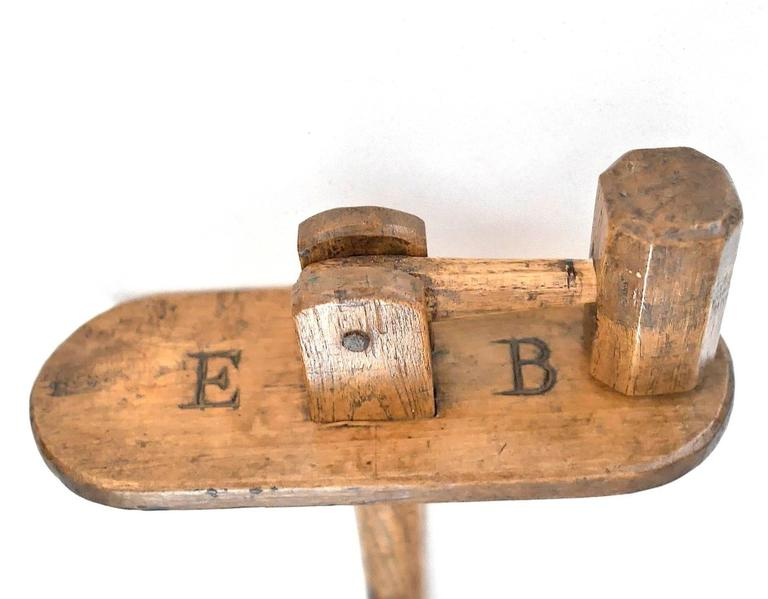Folk Art 19th Century Wooden Rattle For Sale