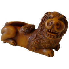 Polychromatic Snuff Box Lion, 18th Century