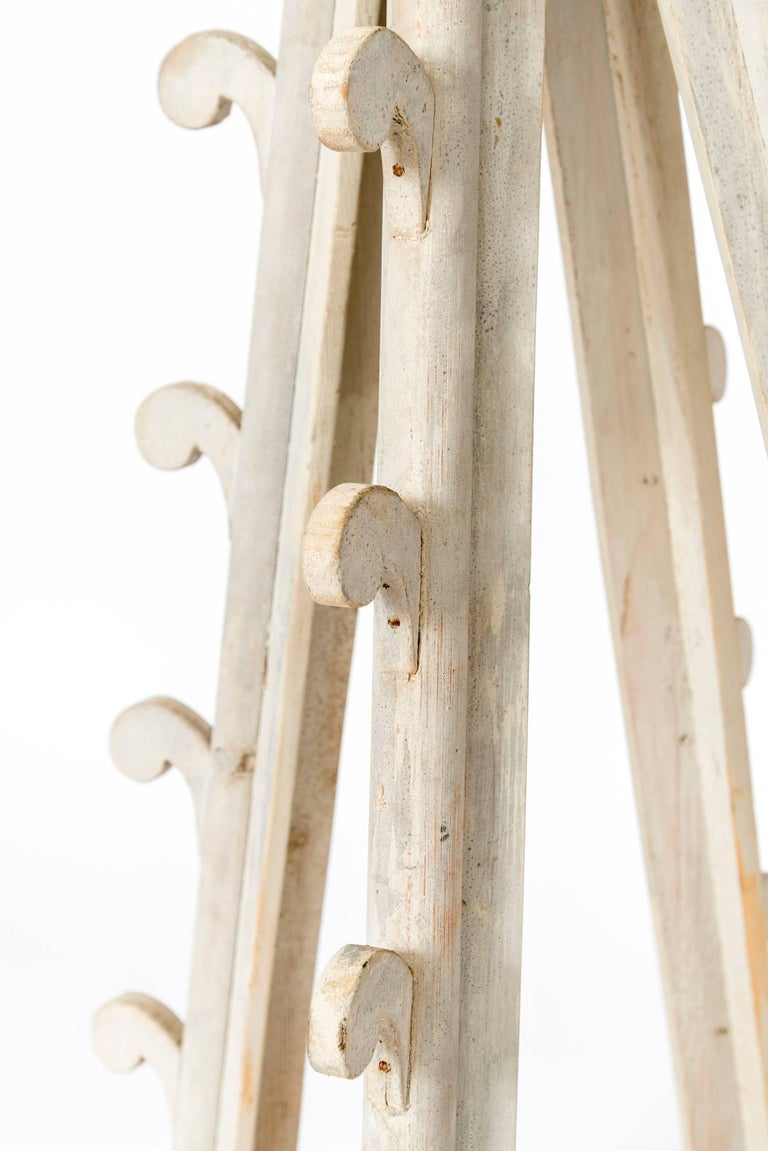 Two Pairs of Gothic Wooden Table Candleholders For Sale 1