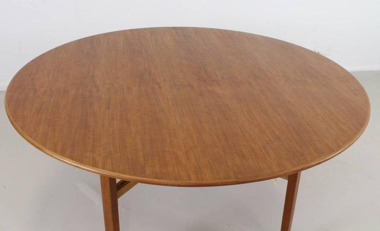 Large Round Card Table Designed By Lewis Butler For Knoll