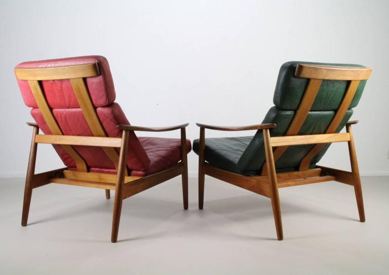 Matching Pair of Lounge Easy Chair by Arne Vodder 2