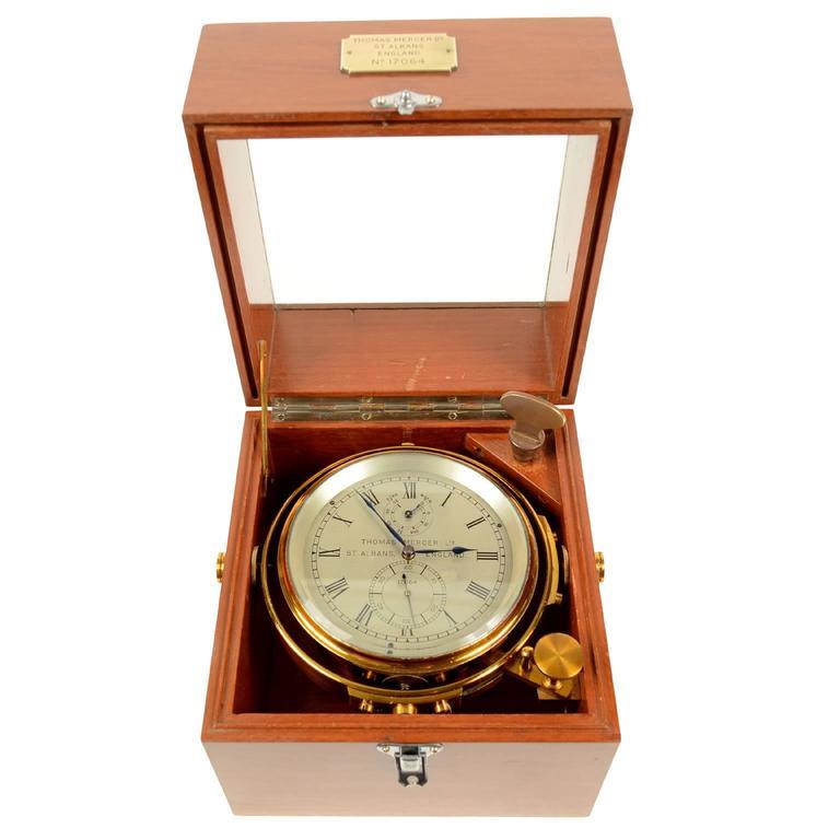 Marine Chronometer Signed Thomas Mercer Ltd. For Sale
