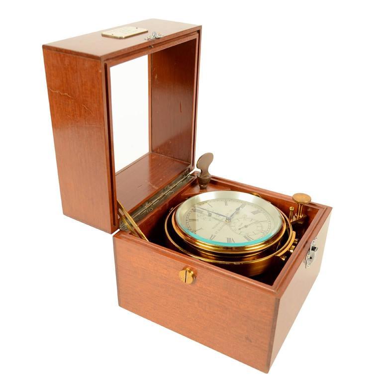 British Marine Chronometer Signed Thomas Mercer Ltd. For Sale