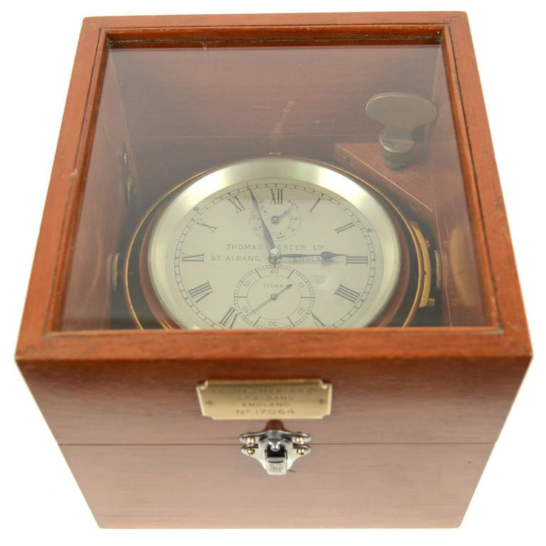 Marine Chronometer Signed Thomas Mercer Ltd. In Excellent Condition For Sale In Milan, IT